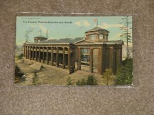 Forestry-Bldg-From-the-Rear-Seattle-w-Panama-Expo-Cancel-amp-Stamp-Vintage