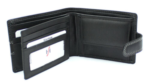 Starhide Mens High Quality Luxury Soft Black Leather Wallet Gift Boxed 1120