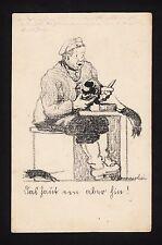 """37315/ AK - 1. Weltkrieg - Karikatur - """"Das haut een aber hin!"""" - (*)"""