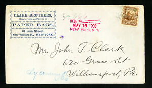 US-1903-Clark-Brothers-Advertising-Stamp-Cover