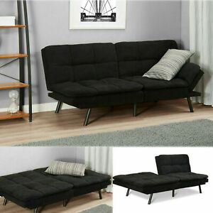 Miraculous Details About Sleeper Sofa Bed Black Suede Convertible Couch Modern Living Room Futon Loveseat Cjindustries Chair Design For Home Cjindustriesco