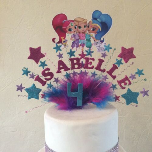 shimmer and shine cake topper made with your choice of name and age