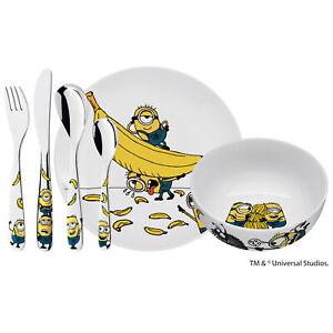 WMF Kinderbesteck MINIONS 6 teilig mit Teller und Müslischale