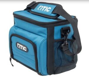 NIB-RTIC-8-Can-Light-Blue-Day-Cooler-Lunchbox-Soft-Pack-24-Hours-Cold-Lunch-Box