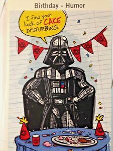Star Wars Birthday Card.Details About Star Wars Birthday Card Lack Of Cake Is Disturbing By Hallmark W Envelope