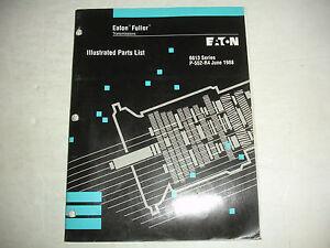 Array - details about eaton fuller transmission 13 speed 6613 parts list catalog service shop manual  rh   ebay com