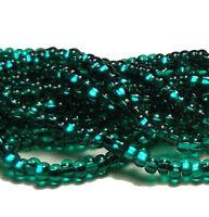 Silver Lined Emerald Czech 11/0 Glass Seed Beads 1-6 String Hank Preciosa