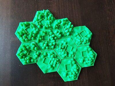 16 Stück Städte für Terraforming Mars Hexagon Fließen Zubehörteile