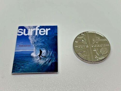 Handmade 1:12th Scale miniature maison de poupées Surfeur Surf Sport Magazine