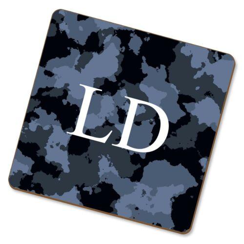 Personalised Custom Militaire Camouflage Effet thé café Coaster Cadeau Nom Texte