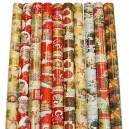 5 Rollen Geschenkpapier Weihnachten Rolle 200 x 70 cm Weihnachtsgeschenkpapier