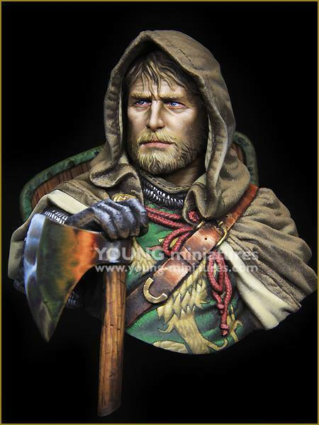 Young Miniatures European Knight 13th Century YH1855 1 10th Bust Unpainted Kit