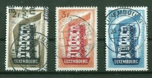 Luxembourg-555-557-propre-estampille-CEPT-Europe-used-80-00