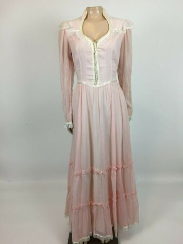 Vintage 70s Gunne sax Prairie Dress 11 Peasant Pin