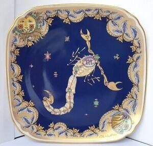 Hutschenreuther-Porcelain-Wall-Tierkreis-Plate-Zodiac-Sign-Scorpion-M946