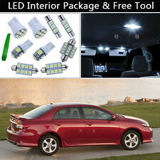 6PCS White LED Interior Car Lights Package kit Fit 2003-2013 Toyota Corolla J1