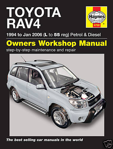 Manuale Haynes Toyota RAV4 1994-2006 BENZINA DIESEL 4750 NUOVO