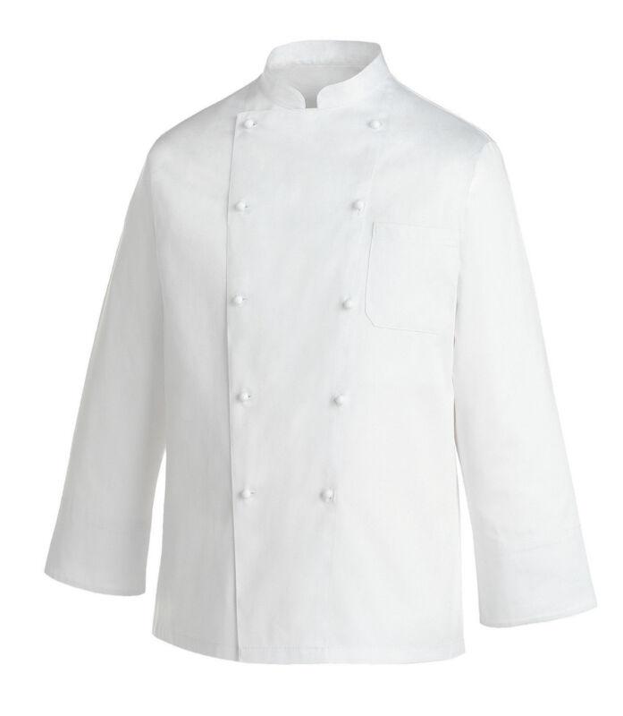 Kochjacke Chef Rex Lange Ärmel 100%baumwolle Made In Italy Egochef Jacke