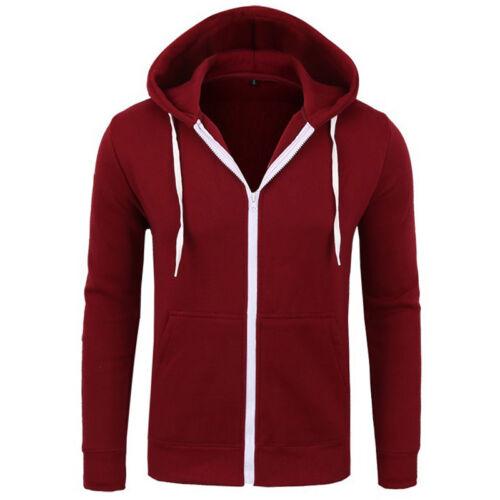 Men/'s Hoodie Zip Up Sweater Winter Warm Hooded Thick Jacket Tops Jumper Coat