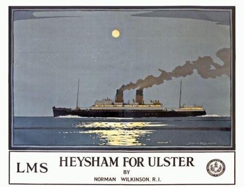 Vintage Irish Ireland Eire Travel Railway LNER GWR LMS Retro Posters A5//A4//A3