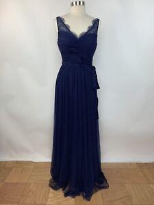 Anthropologie-BHLDN-Hitherto-Fleur-Size-10-Blue-V-Neck-Formal-Cocktail-Dress