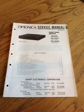 Optonica SX-9301/9305 Power Amplifier Original Service Manual