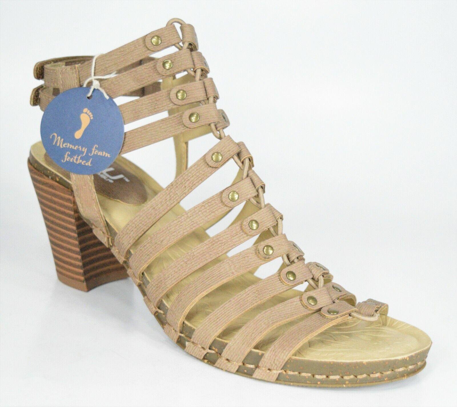 JBU Jambu Sugar Encore Nude Vegan Ankle Strap Gladiator Heels Size 7.5 (M) NEW