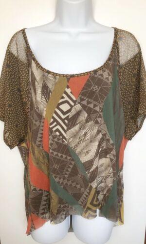 WESTON WEAR Womens Size Small Nylon Shirt Sheer M… - image 1