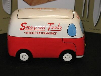 In Fragrant Flavor vw Camper??? Discreet Snap-on Tools Collectors Ceramic Truck Van Money Bank / Box