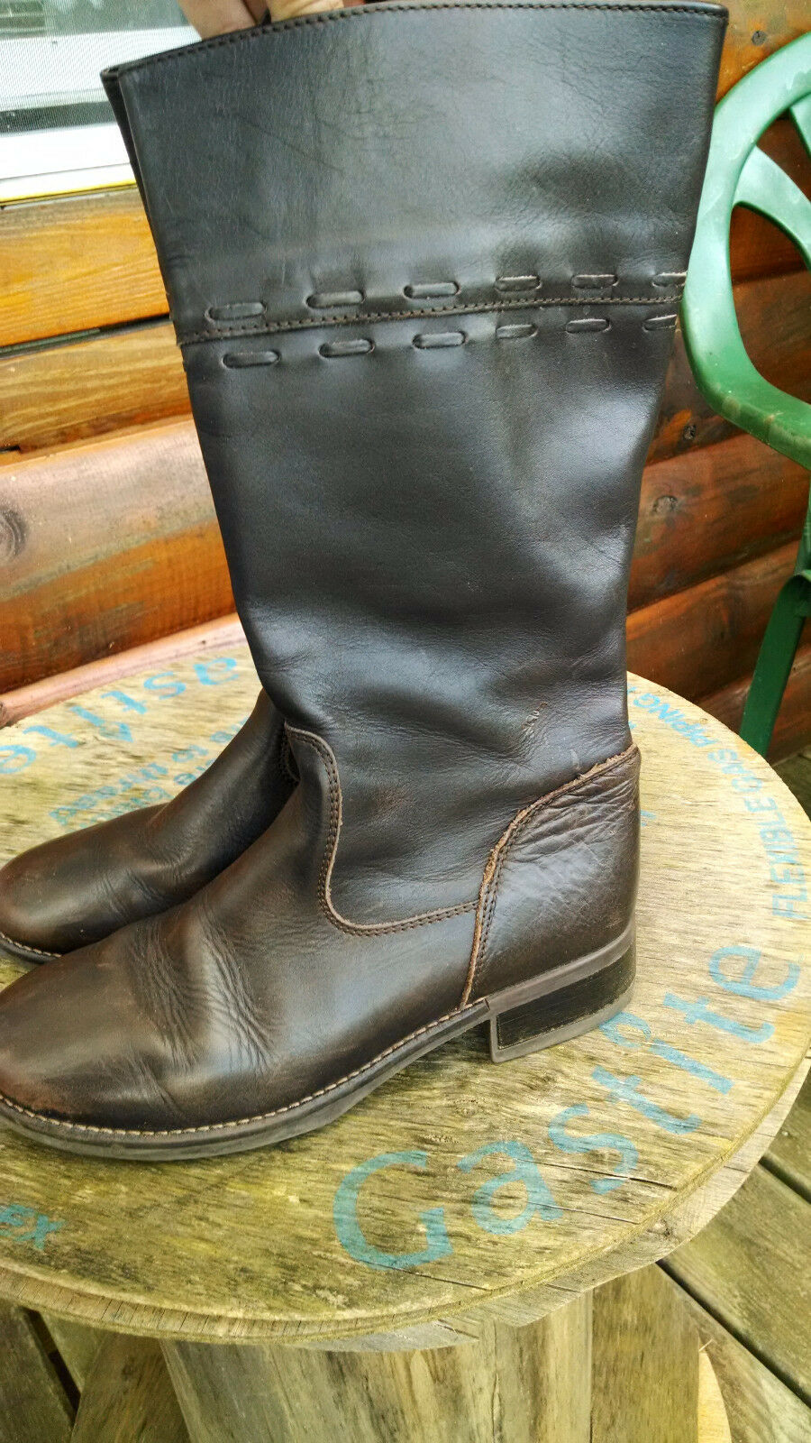 LL Bean Brown Leather Boots - Lined - Size 8 1 2