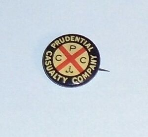 Early-1900s-INSURANCE-pin-PRUDENTIAL-Casualty-Company-PCC-Initial-Letters