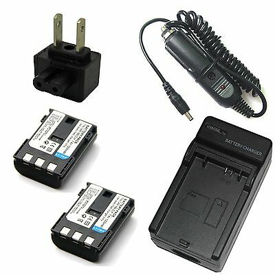 Replacement Battery /& Charger Set for Canon LEGRIA HF R18 Camera Replacement Canon NB-2LH Battery /& Charger Kit