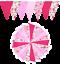 Fabric-Bunting-Wedding-Birthday-Garden-Party-Christening-Handmade-10ft-20ft thumbnail 4