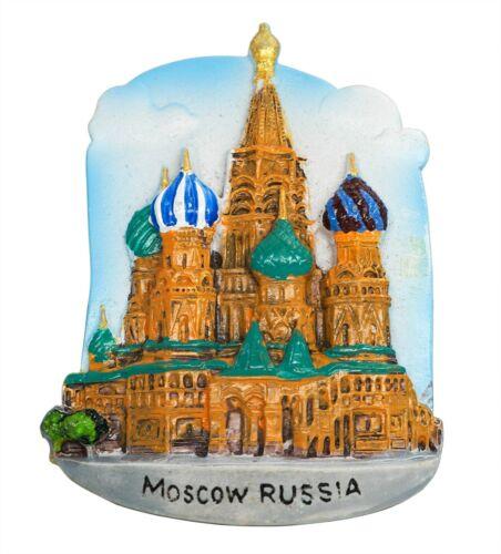Russia 3D Resin Fridge Magnet Tourist Travel Souvenir Memorabilia Collection