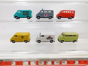 Ca586-0, 5# 6x chocolat 1:87/h0 Camionnette DKW F 89 L: 4711 + M. Erdal + Post etc