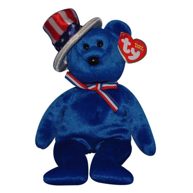 Ty Beanie Baby Sam - MWMT (bear Blue 2003) Patriotic 6abdf1ef5690