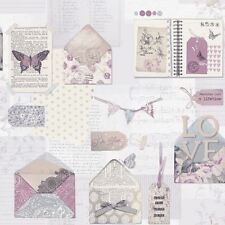 PS I LOVE YOU WALLPAPER ROLLS - LILAC - ARTHOUSE 671201 BUTTERFLY