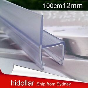 PVC PLASTIC SHOWERSCREEN SHOWER SCREEN DOOR WATER SEAL STRIP LINING FOR 12MM GLS