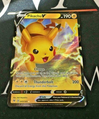 Pokemon Pikachu V Half Art Ultra Rare 043//185 Vivid Voltage