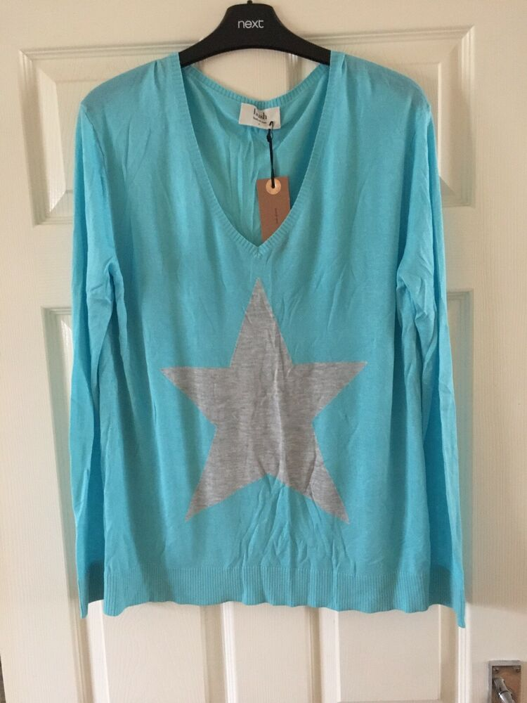???? Hush Summer Stella Pull, Couleur Turquoise/gris-taille L ????