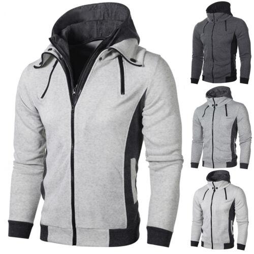 Men/'s Autumn Winter Hoodie Hooded Sweatshirt Coat Jacket Outwear Jumper Sweater