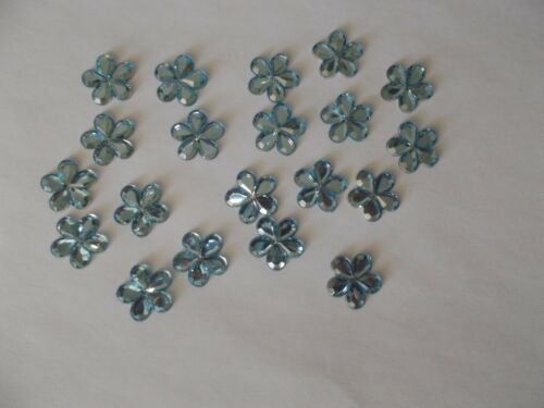 50 BLUE FLOWER SHAPE  BABY SHOWER CONFETTI TABLE SPRINKLES DECORATIONS  FREE P/&P