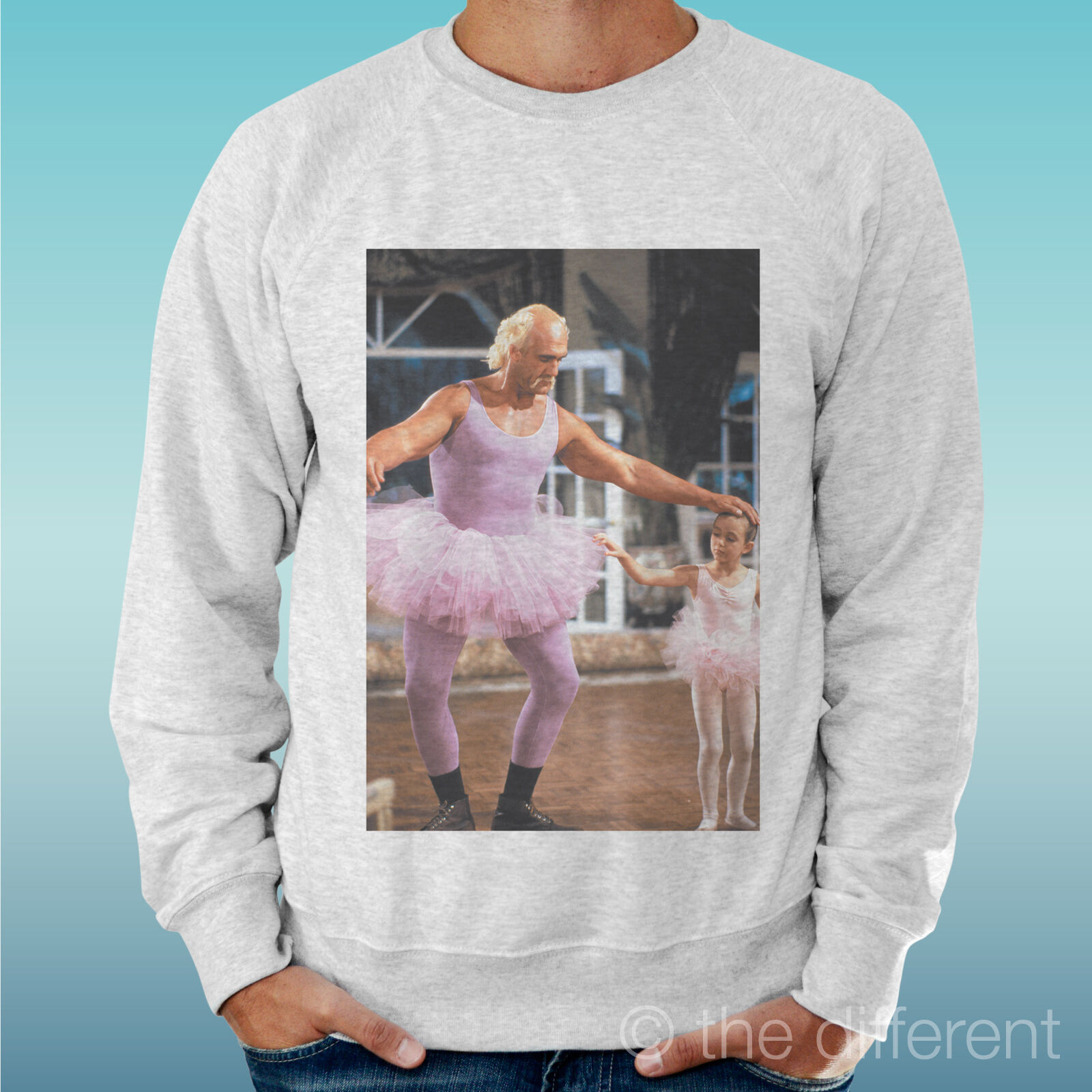 MEN'S SWEATSHIRT LIGHT SWEATER LIGHT GREY GREY   HULK HOGAN BALLET