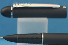 New Hero No. 529 Matt Black Fine School Fountain Pen with Chrome Trim