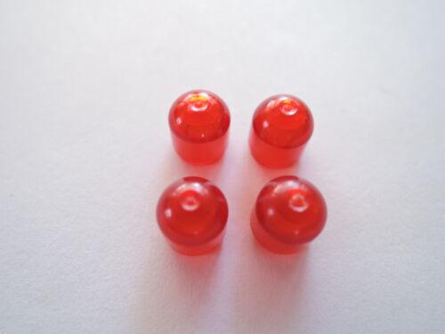 LEGO 4 x transparente rote  Lichtkappe 4773  Set  6988 6480 6484 6979 neuw.