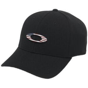 2c594c62de530b Oakley Men s Tincan Cap Hat Black american Flag L xl for sale online ...
