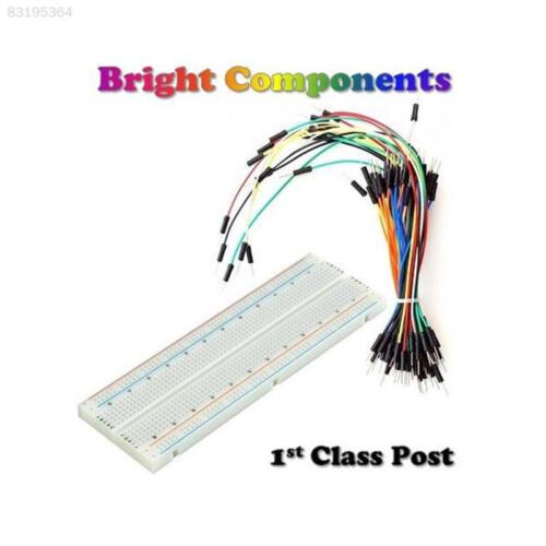 DCEB Solderless Prototype Breadboard 830,400,170 Points Holes 65x Jumper Wires