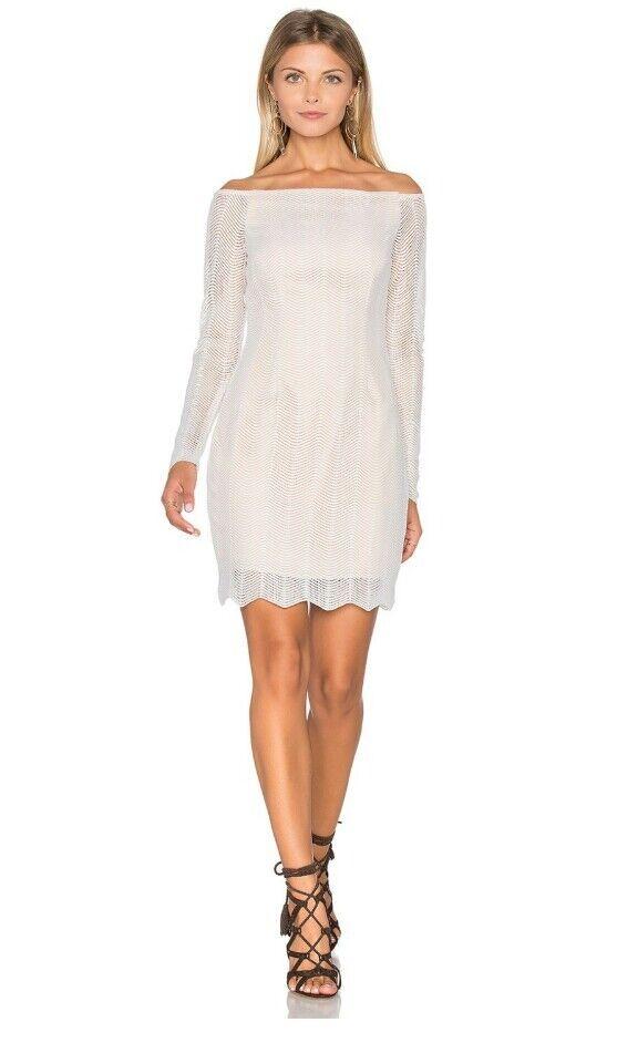 NWT  185 Keepsake Twice Long Slive Lace Dress - Ivory - Sz XS