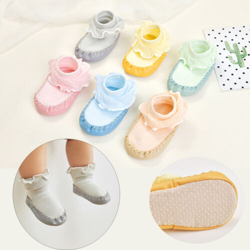 Sole Boy Girls Baby Shoes Floor Socks Flats Soft Slippers Toddler Ankle Hosiery