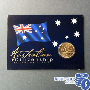 2011 Australia Citizenship  $1 Coin on Card
